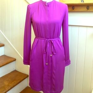 Diane Von Furstenberg Purple Long Sleeve Dress